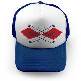 Golf Trucker Hat - Argyle