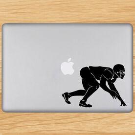 Football Linebacker Silhouette Removable ChalkTalkGraphix Laptop Decal