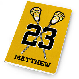 Guys Lacrosse Notebook Personalized Crossed Sticks