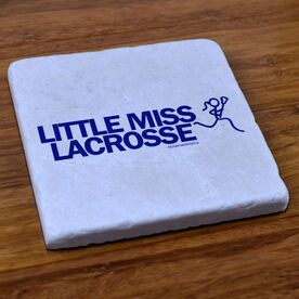 Lacrosse Natural Stone Coaster Little Miss Lacrosse