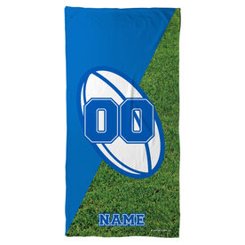 Rugby Beach Towel Personalized Ball
