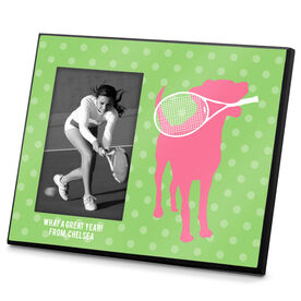 Tennis Photo Frame Tennis Dog With Racket