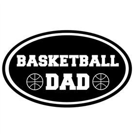 Basketball Dad Oval Vinyl Decal