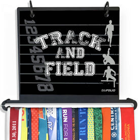 BibFOLIO Plus Race Bib and Medal Display - Track and Field Silos