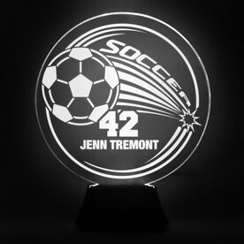 Soccer Acrylic LED Lamp Corner Kick With 1 Line and Number