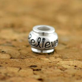 Sterling Silver Believe Large Hole Bead