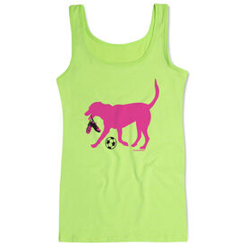 Soccer Women's Athletic Tank Top Sasha The Soccer Dog