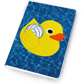 Volleyball Notebook One Bad Rubber Volleyball Player