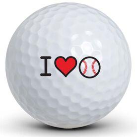 I Heart Baseball Golf Balls