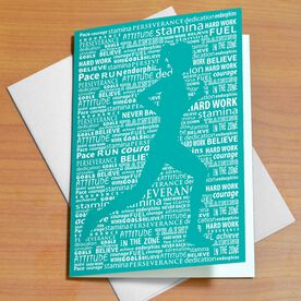 Inspirational Words Female (Teal) Greeting Card