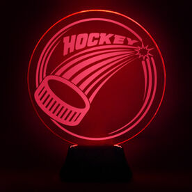 Hockey Acrylic LED Lamp Slap Shot