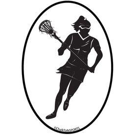 Fast Break Lacrosse Oval Decal (Female)