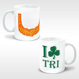 Triathlon Ceramic Mug Leprechaun Beard I Shamrock