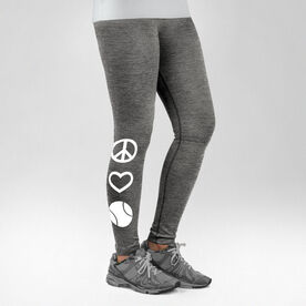 Tennis Performance Tights Peace Love Tennis