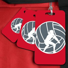 Volleyball Bag/Luggage Tag Volleyball Player Silhouette