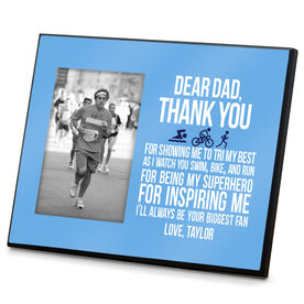 Triathlon Wood Frame Dear Dad