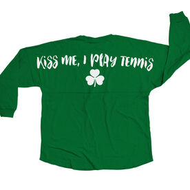 Tennis Statement Jersey Shirt Kiss Me I Play Tennis