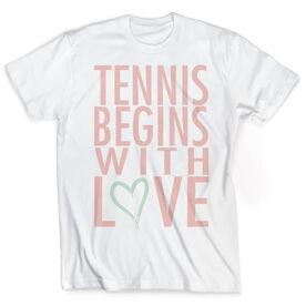 Vintage Tennis T-Shirt - Tennis Begins With Love