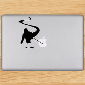 Skiing Removable ChalkTalkGraphix Laptop Decal - Back Country Skier