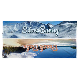 Skiing Beach Towel Snow Bunny Beach Babe