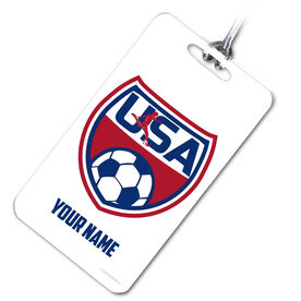 Soccer Bag/Luggage Tag Personalized USA Soccer
