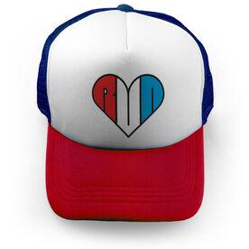Running Trucker Hat - My Heart Run USA
