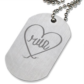 LooseLACES - Run Heart Printed Dog Tag Necklace