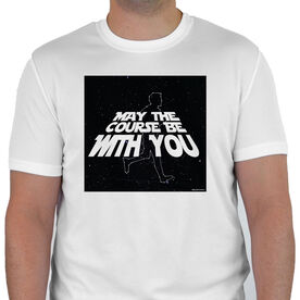 Men's Running Customized Short Sleeve Tech Tee May The Course Be With You