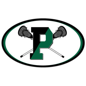 Car Magnet - Pentucket Youth Lacrosse Logo (Black)