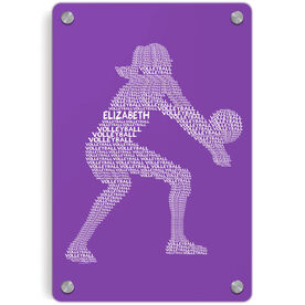 Volleyball Metal Wall Art Panel - Personalized Volleyball Player Words