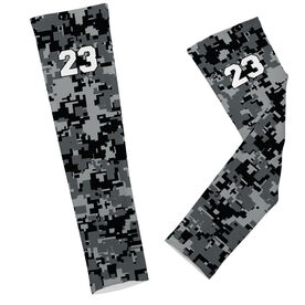 Soccer Printed Arm Sleeves Soccer Digital Camo with Number