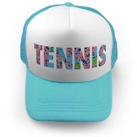 Tennis Trucker Hat - Floral Tennis