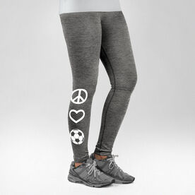 Soccer Performance Tights Peace Love Soccer
