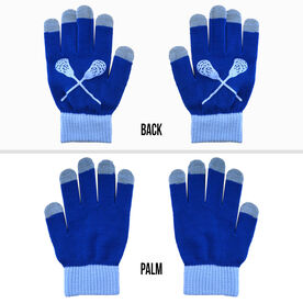 Lacrosse Touchscreen Knit Gloves - Blue/Carolina Blue