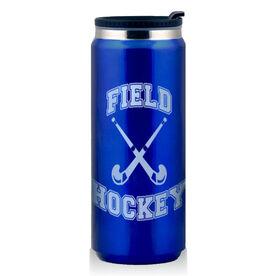 Stainless Steel Travel Mug Field Hockey Crossed Sticks