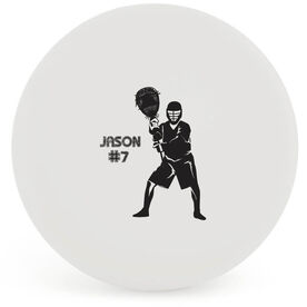 Personalized Lacrosse 'GOALIE' Ball (White Ball)