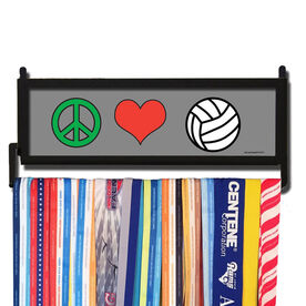 AthletesWALL Peace Love Volleyball Medal Display