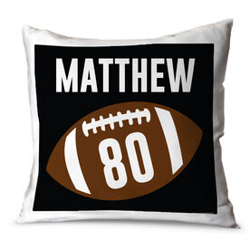 Football Throw Pillow Personalized Football Name and Number