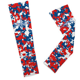 Crew Printed Arm Sleeves Digital Camo With Boat