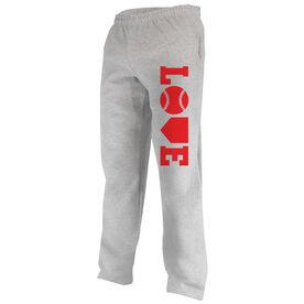 Softball Fleece Sweatpants Softball Love