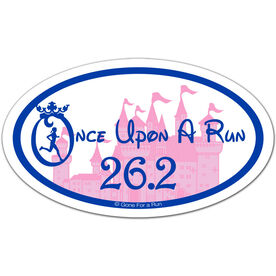 Once Upon a Run 26.2 Oval Car Magnet