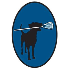 Lax Dog Oval Decal (Blue)