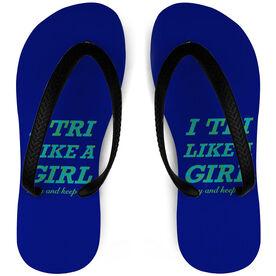 Triathlon Flip Flops I Tri Like a Girl