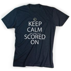 Basketball Tshirt Short Sleeve Keep Calm And Don't Get Scored On