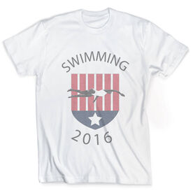 Vintage Swimming T-Shirt - Your Logo
