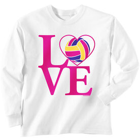 Volleyball T-Shirt Long Sleeve Love Volleyball
