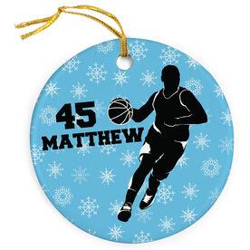 Basketball Porcelain Ornament Personalized Basketball Guy