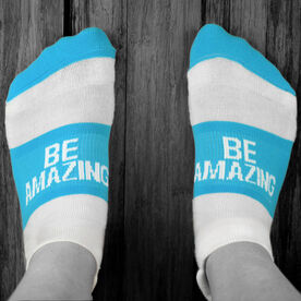 Socrates™ Woven Performance Socks Be Amazing (Baby Blue)