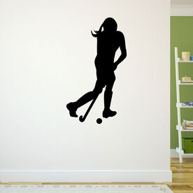 Field Hockey Player Removable ChalkTalkGraphix Wall Decal
