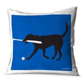 Baseball Throw Pillow Mitts The Baseball Dog